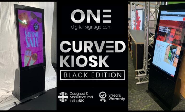 Black Edition Curved Kiosk Header